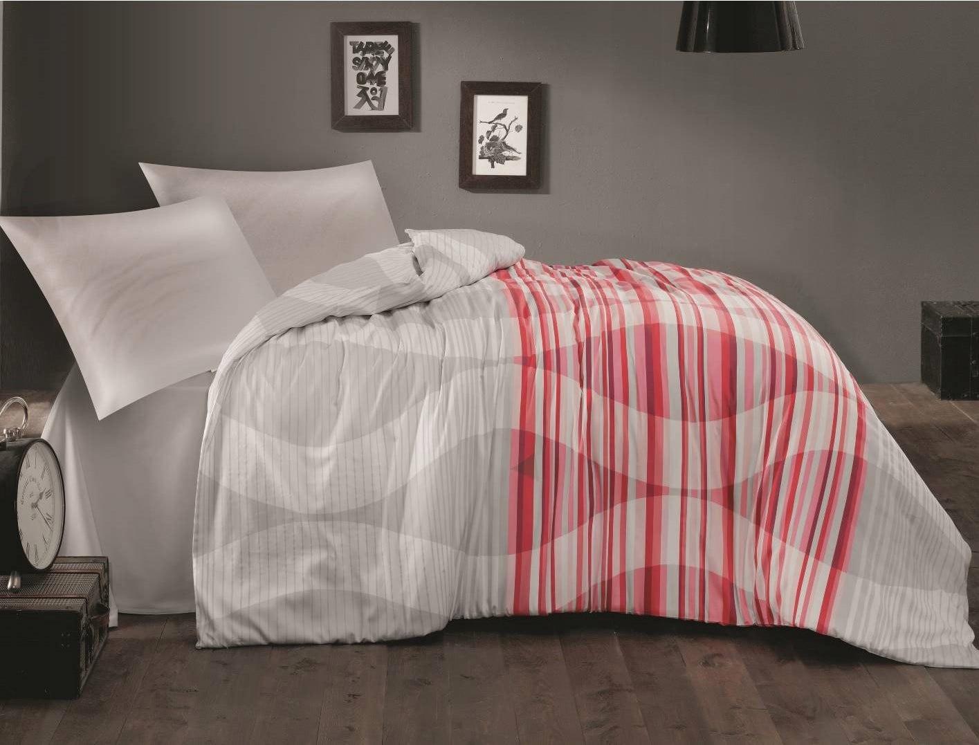 Bavlnené saténové posteľné obliečky (Š) RETRO 1 / 140x200 EXKLUZÍVNE