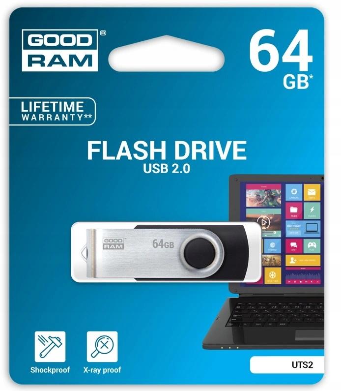 GOODRAM TWISTER PENDRIVE PAMIĘĆ 64 GB