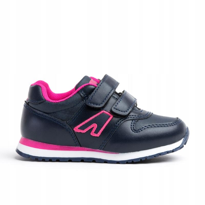 Buty sportowe dziecięce wkł.skóra na rzepy Axim