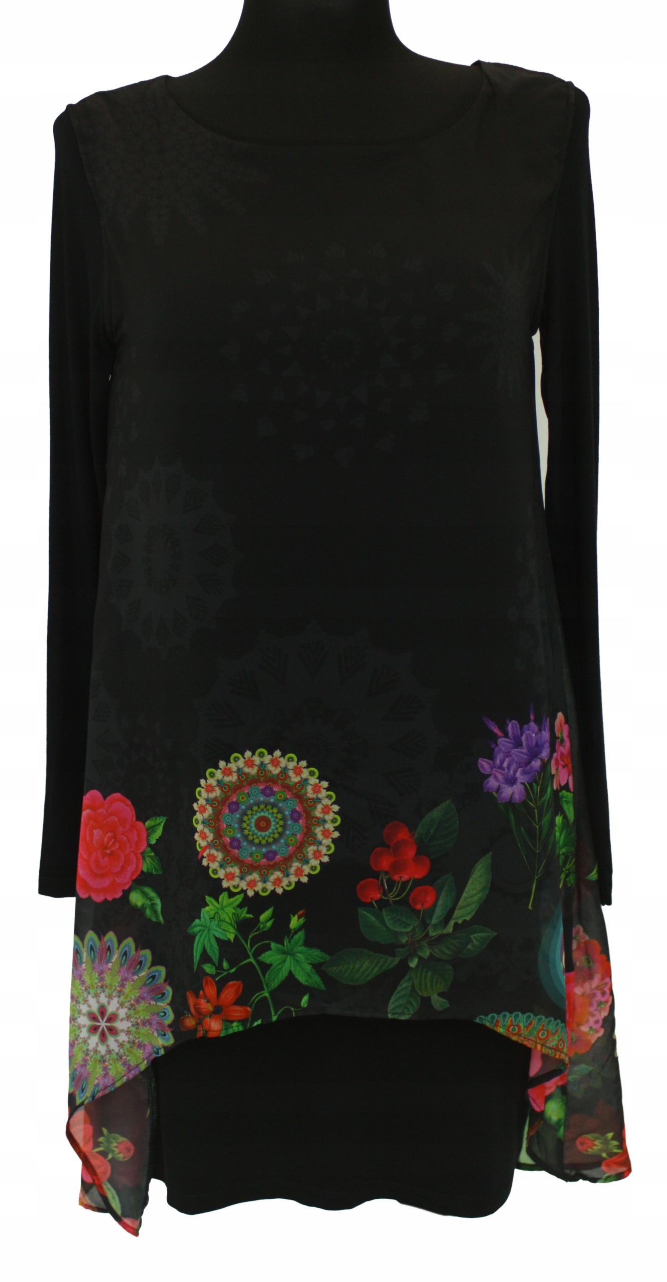 DESIGUÁLNE šaty po kolená s kvetinami retro viskóza 36