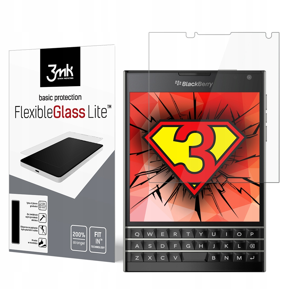 BlackBerry Passport - szkło 3mk FlexibleGlass Lite