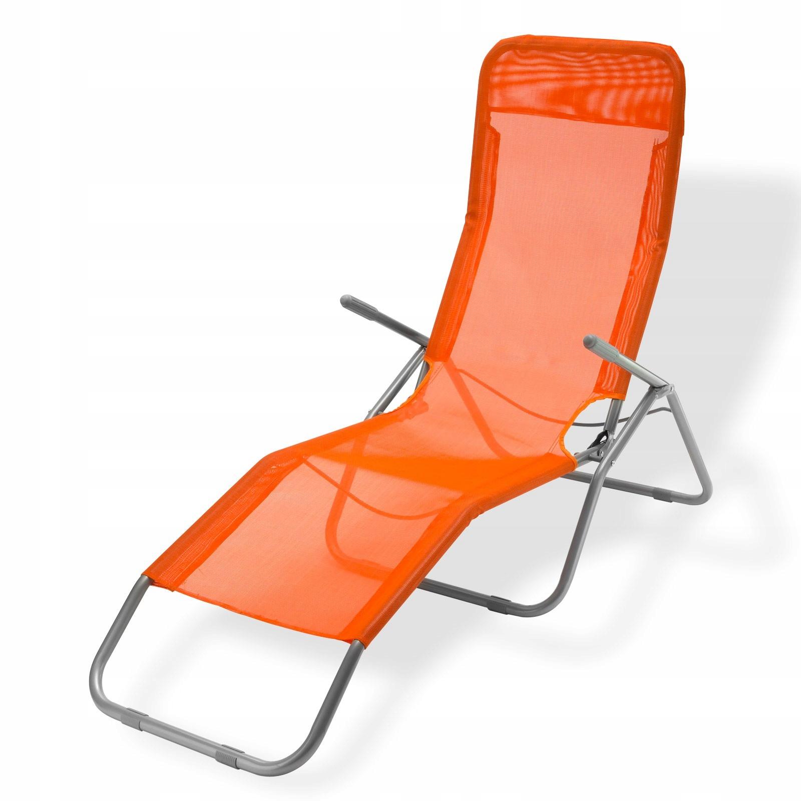 Удобное большое раскладывающееся кресло-кровать ОРАНЖЕВОЕ КРЕСЛО