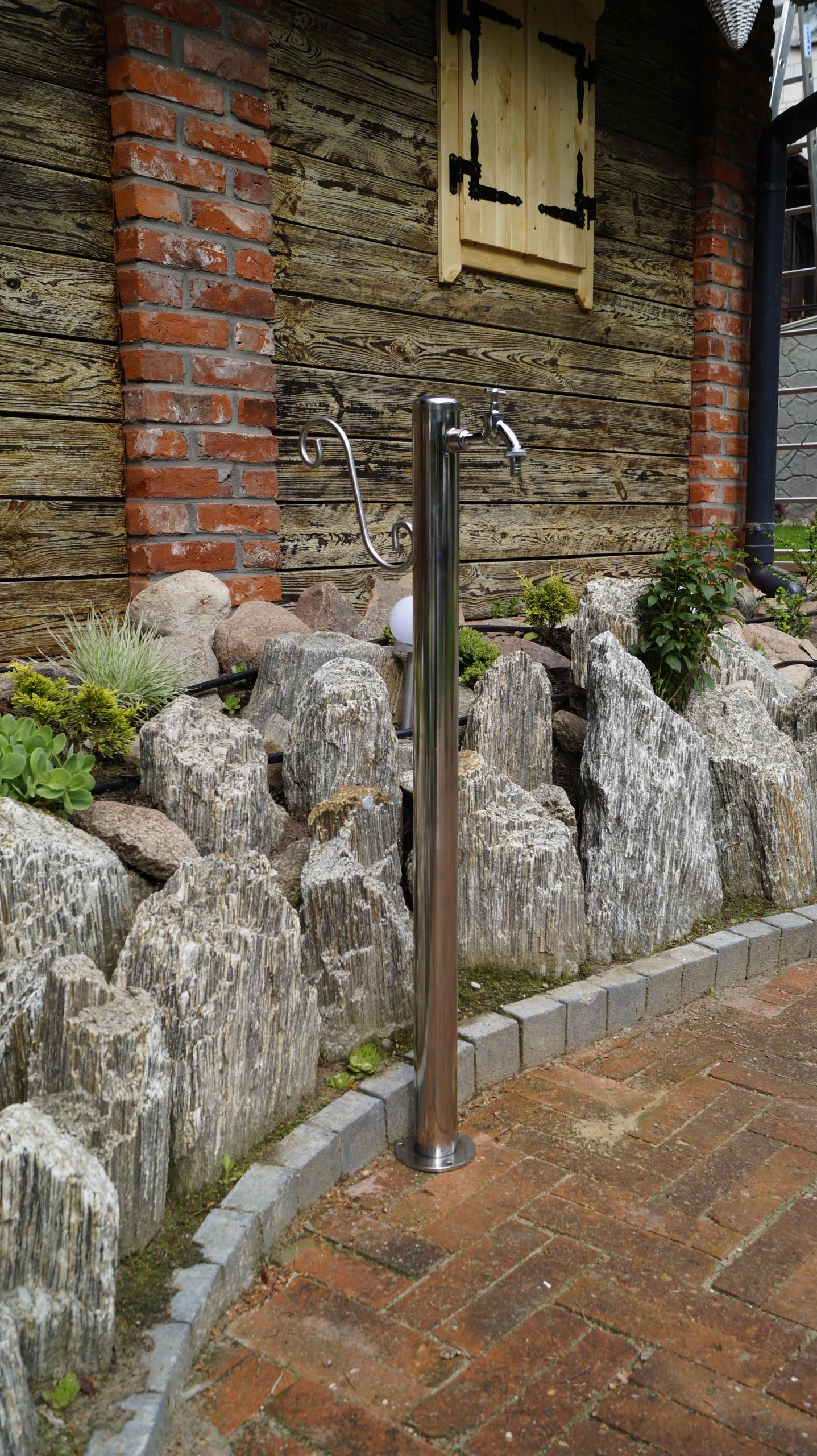 Kran Ogrodowy hydrant 100cm INOX kranik słupek Kod produktu HYD-100G