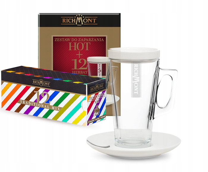 Richmont - zestaw na prezent szklanka + herbata