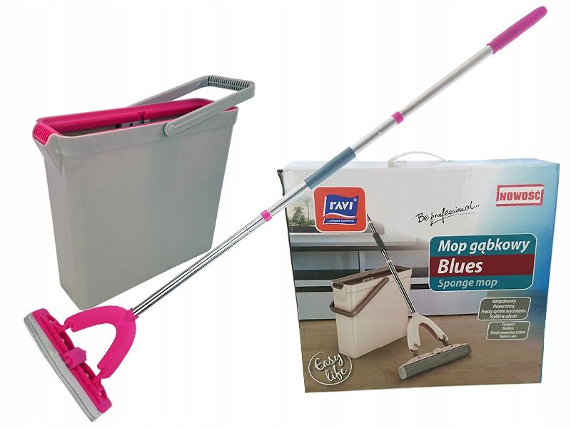 Mop gąbkowy Ravi Blues różowy