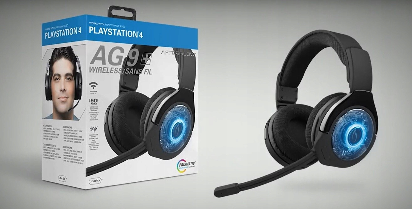 Наушники для PS4 Wireless Afterglow AG9 PDP EAN 0708056057503