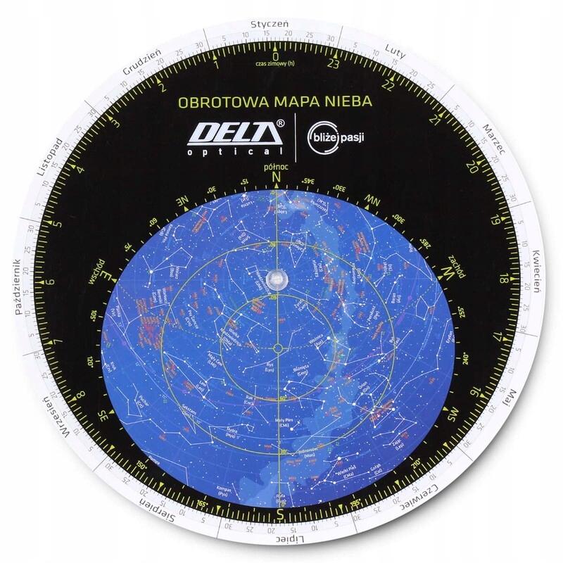 Rotujúce neba mapa delta optické vodotesné