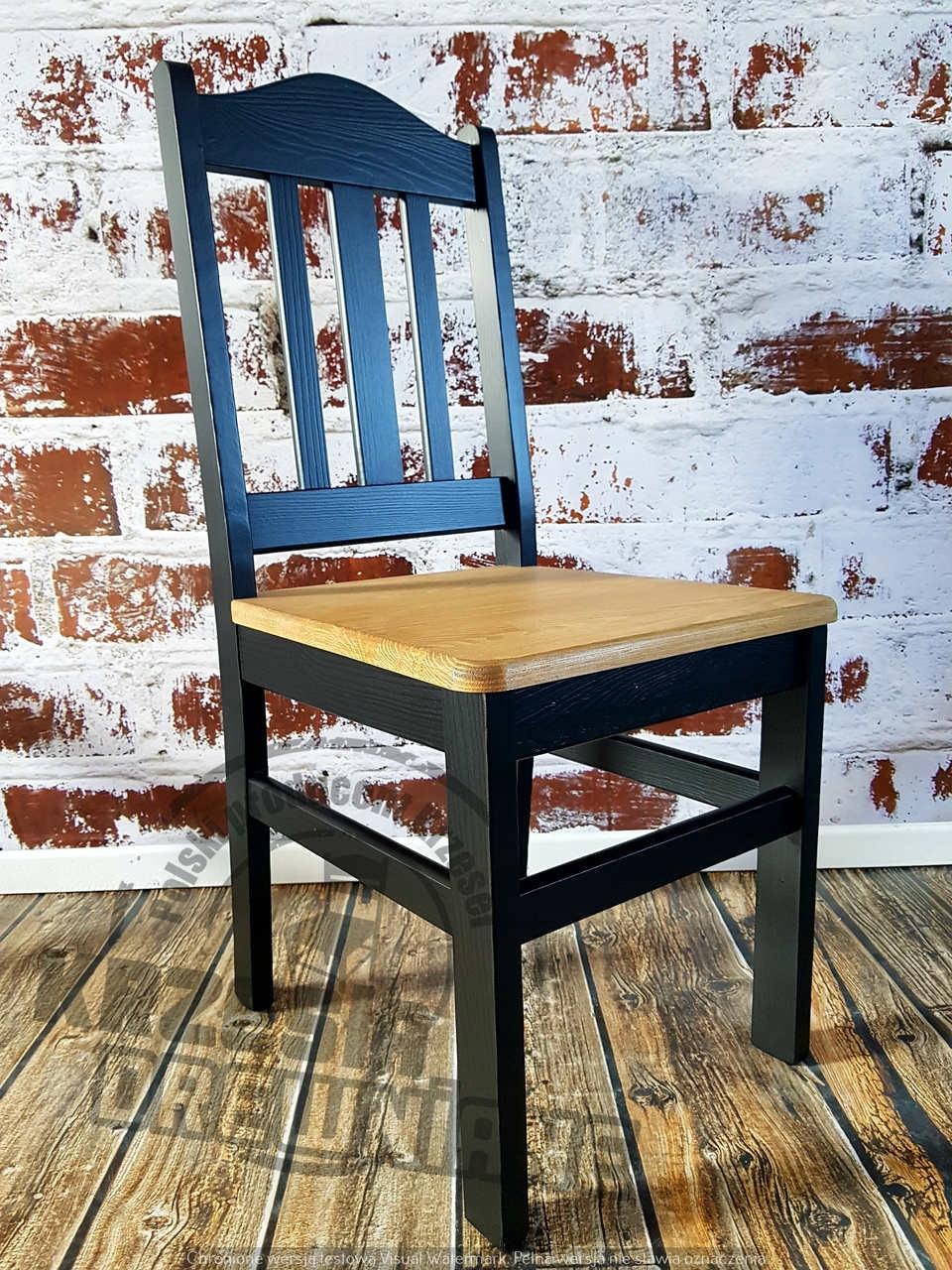 Čierna Stolica vyrobené z Borovice, Retro, Podkrovie - Elegancia-HIT
