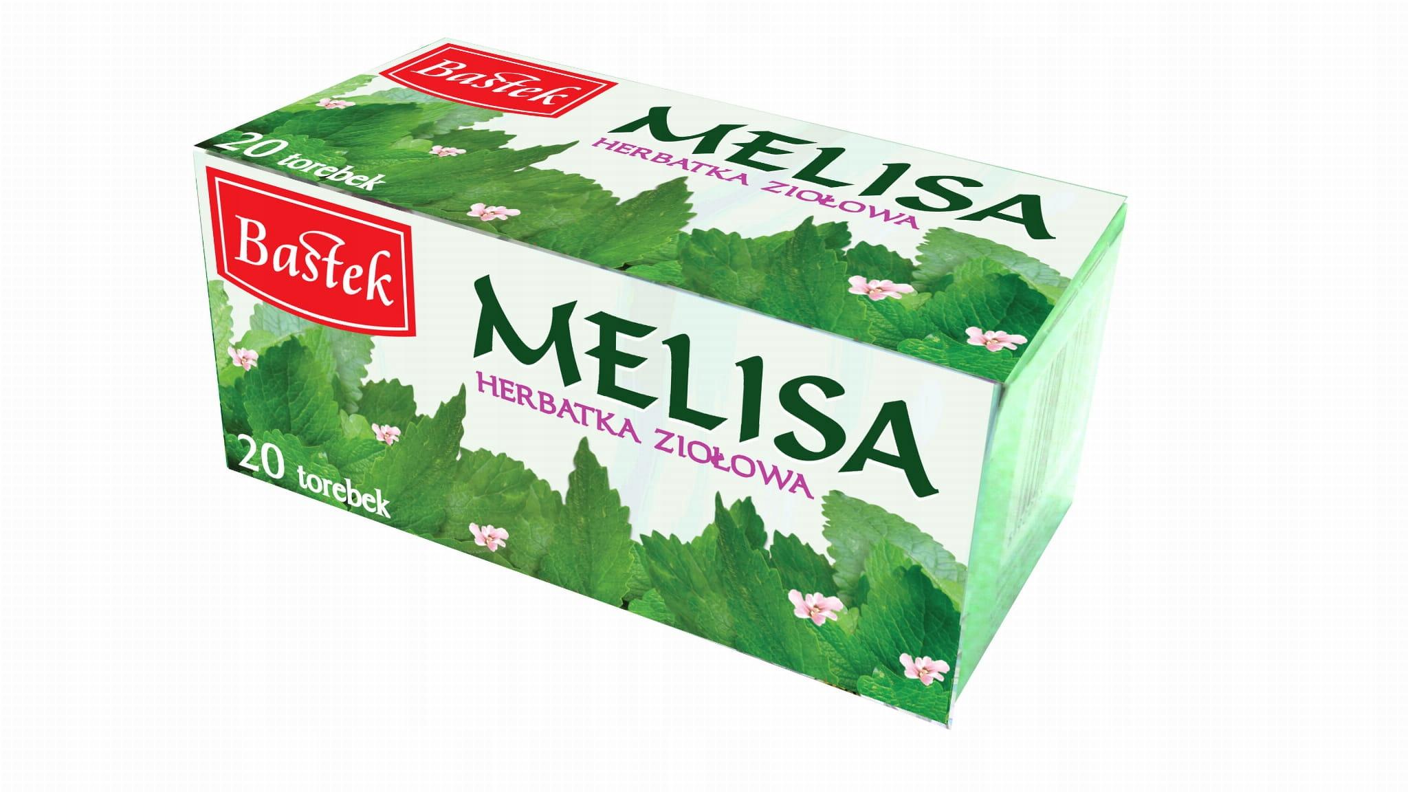 Herbata ziołowa ekspresowa Melisa 20torebek Bastek