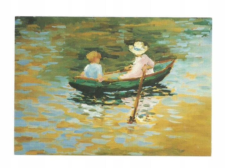 Открытка - Мали Бэр, Дети в лодке ...