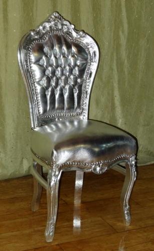 СТИЛЬНЫЙ серебряный барокко стул ретро STOOL