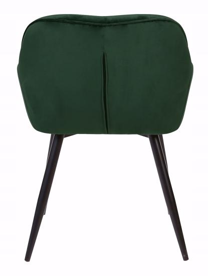 Krzesło tapicerowane Loren dark green Szerokość mebla 55 cm