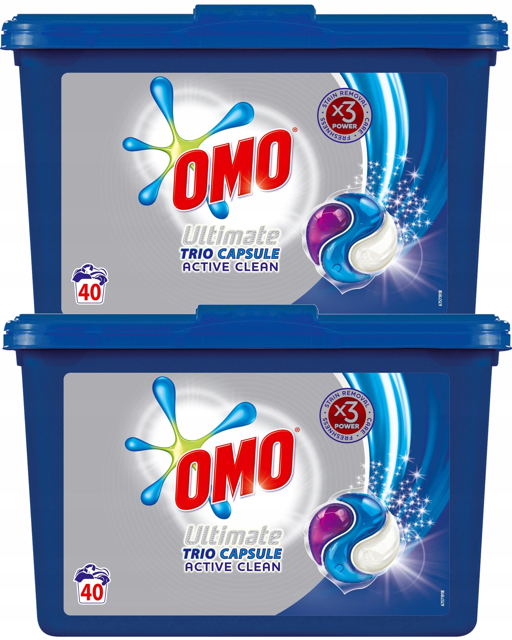 Omo Ultimate Активное трио Прачечная Капсулы 80pcs XL