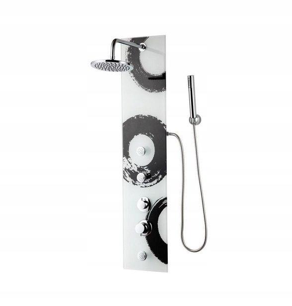 Dekoratívny sprchový panel s 3 tryskami hydromasáže