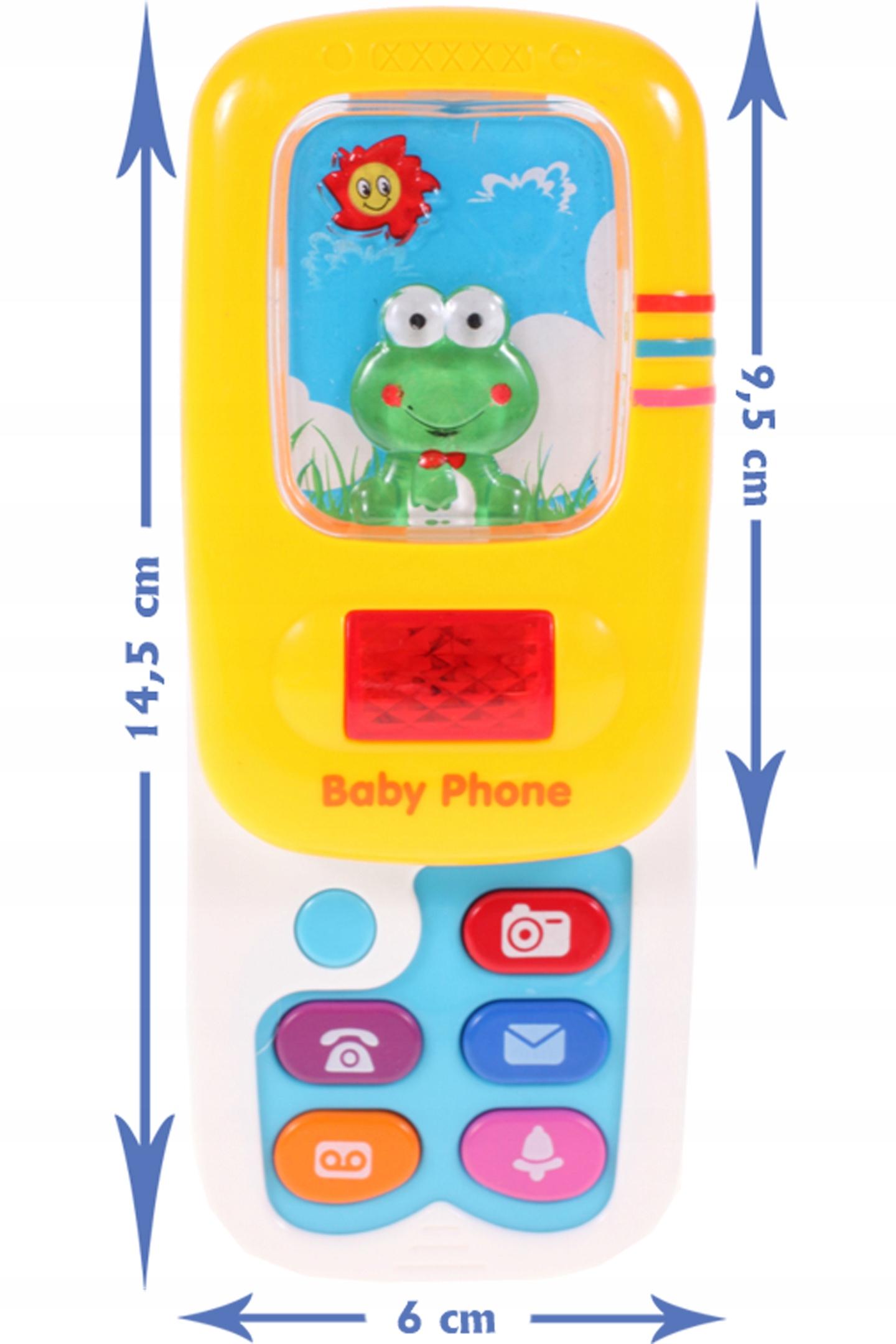 TELEFON z dźwiękiem ROZSUWANY Światło SMARTFON Materiał Plastik