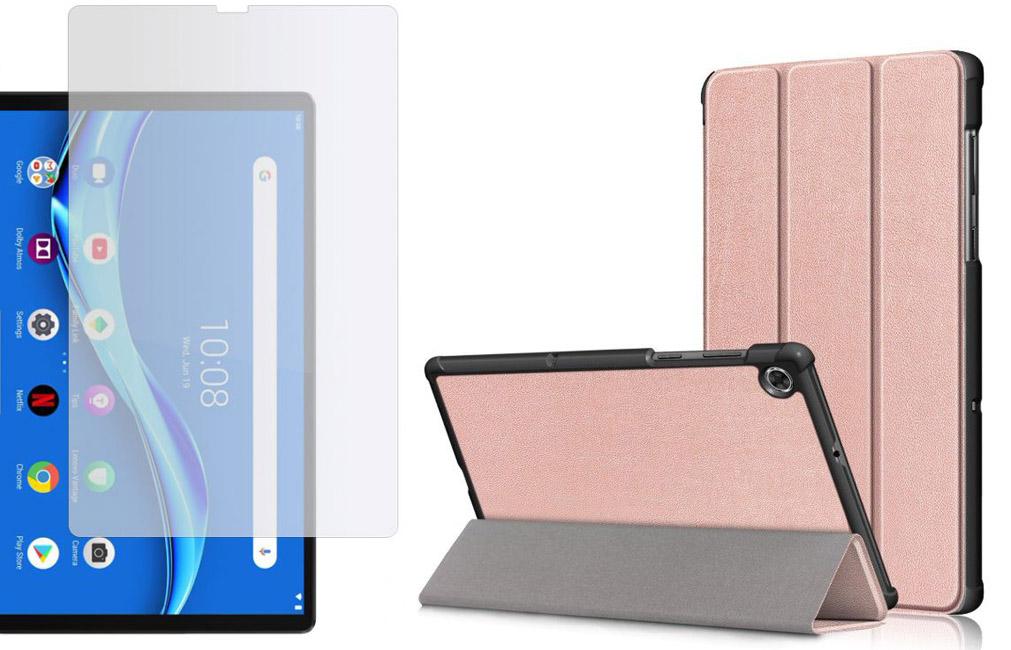 Etui do Lenovo Tab M10 Plus 10.3 Rose Gold + Szkło