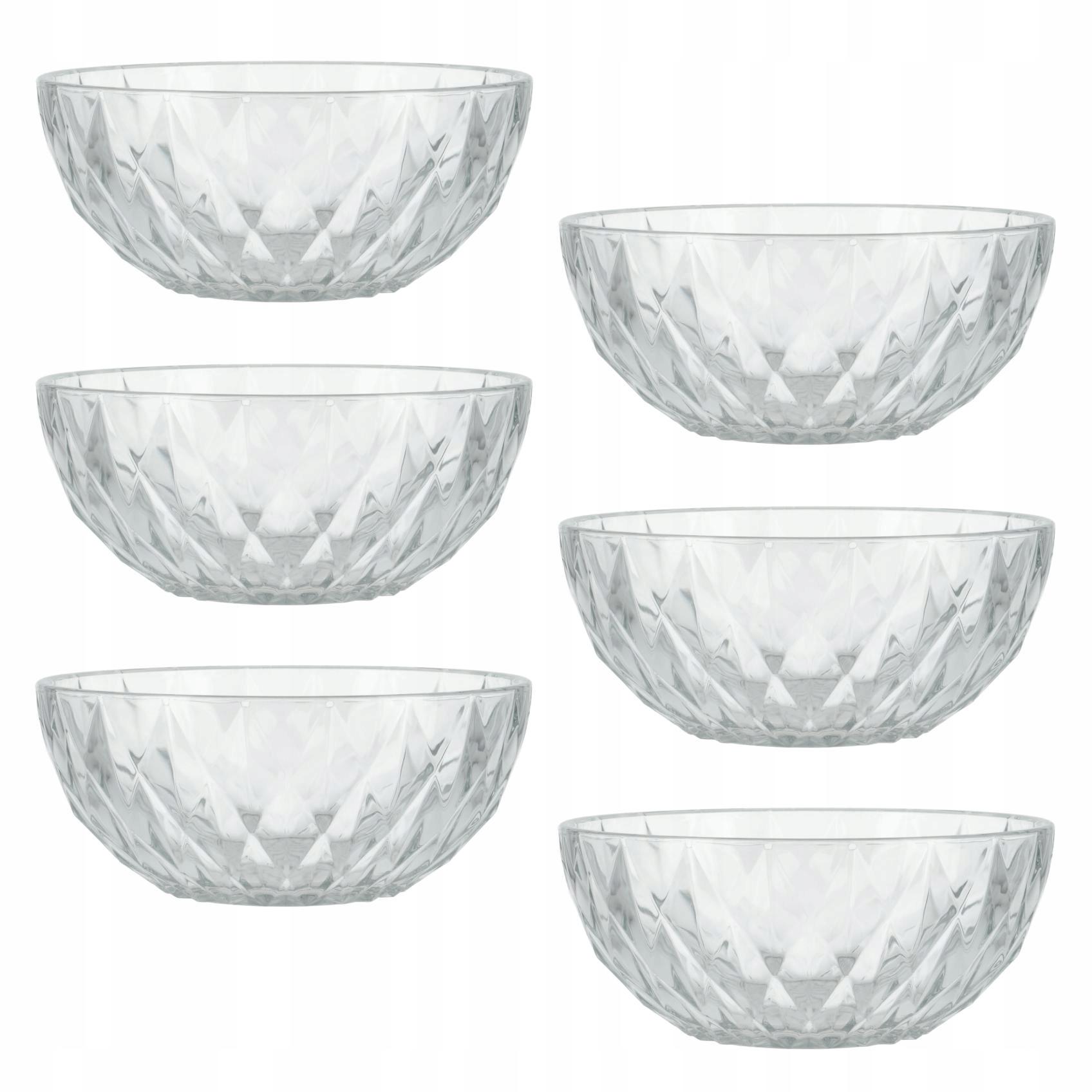 Komplet miseczek salaterek szklanych zestaw 6 szt.