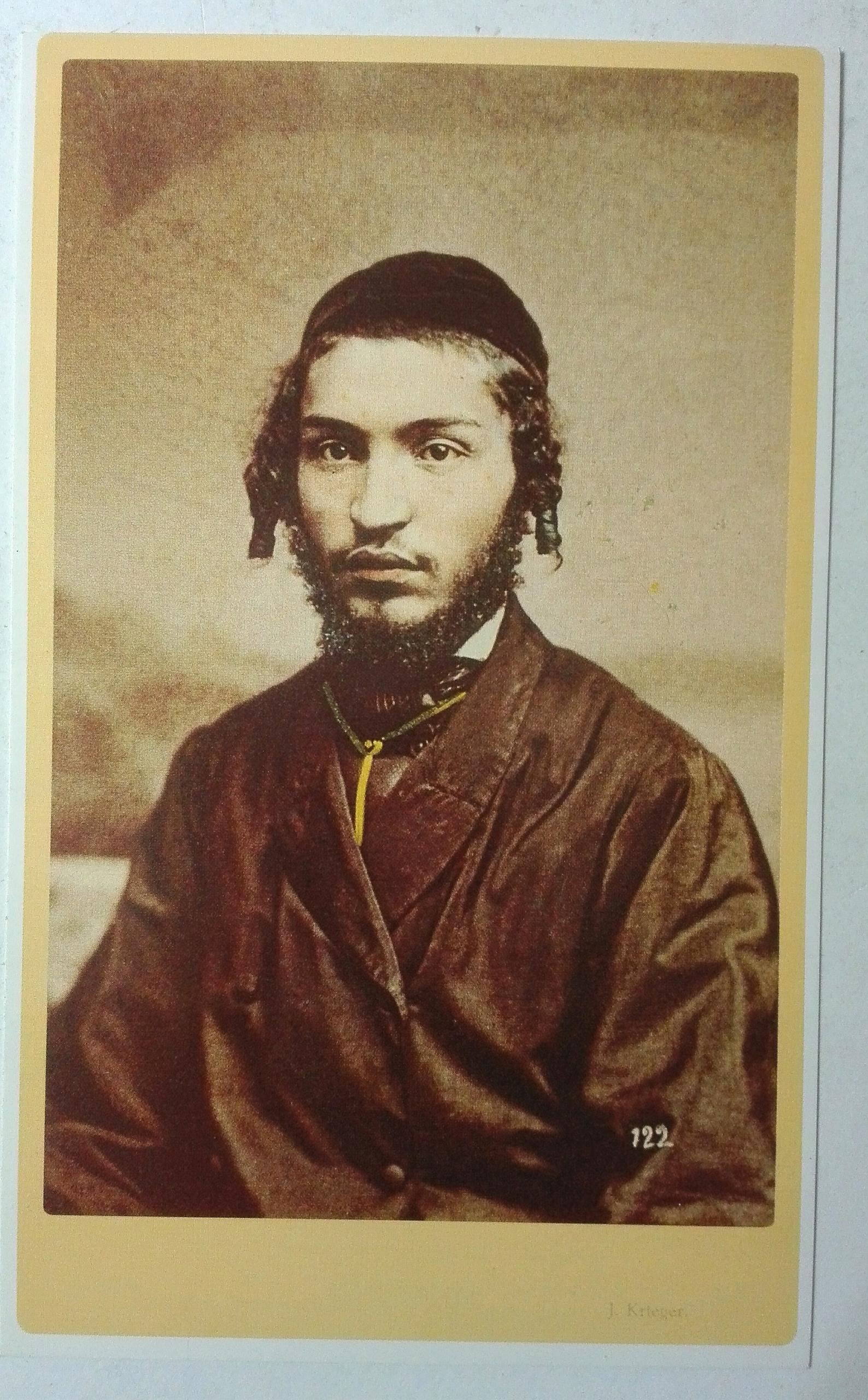 Pohľadnica Mladý Žid I. Krieger 1860 dotlač SPK