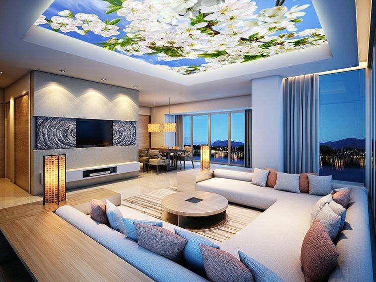Натяжные потолки, Натяжной потолок с надпечаткой 60 злотых