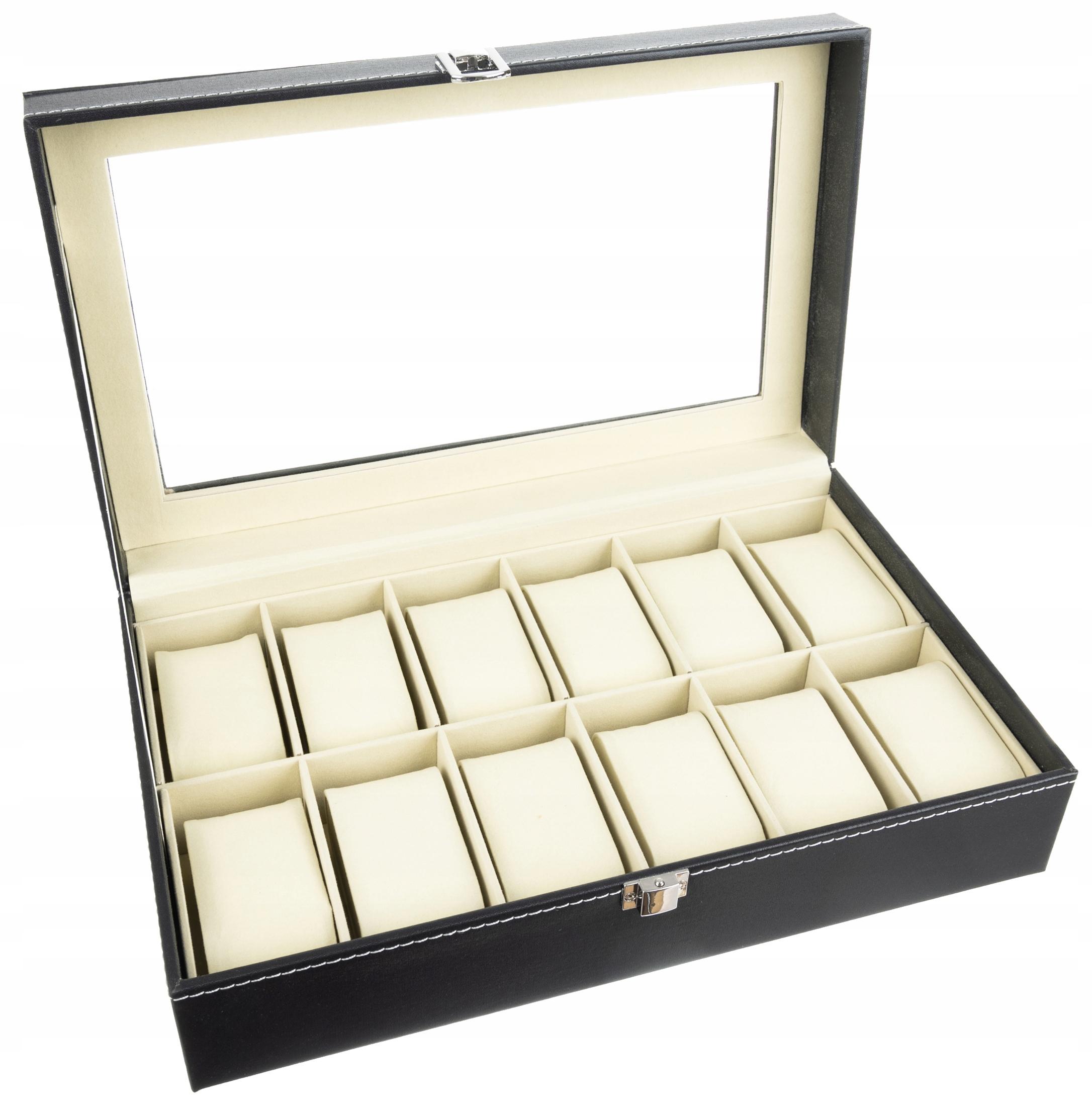 Pudełko Etui Organizer Szkatułka na Zegarki 12szt Marka Iso Trade