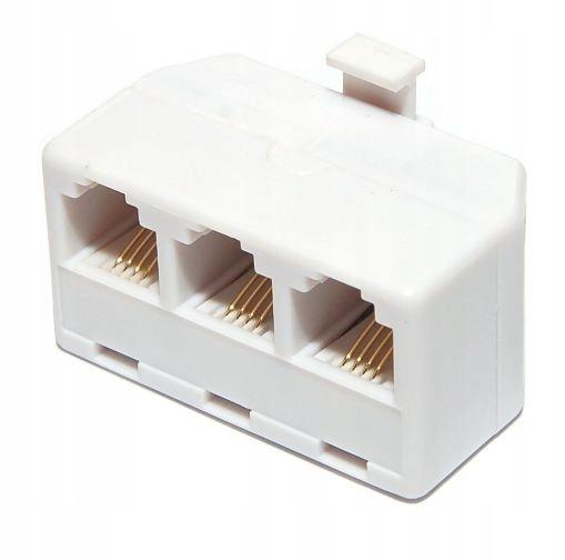 Telefónny splitter plug 3 RJ11 zásuvky