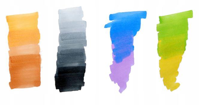Markery Kolorowe Zakreślacze Pisaki Dwustronne x40 Liczba sztuk w zestawie 40 szt.