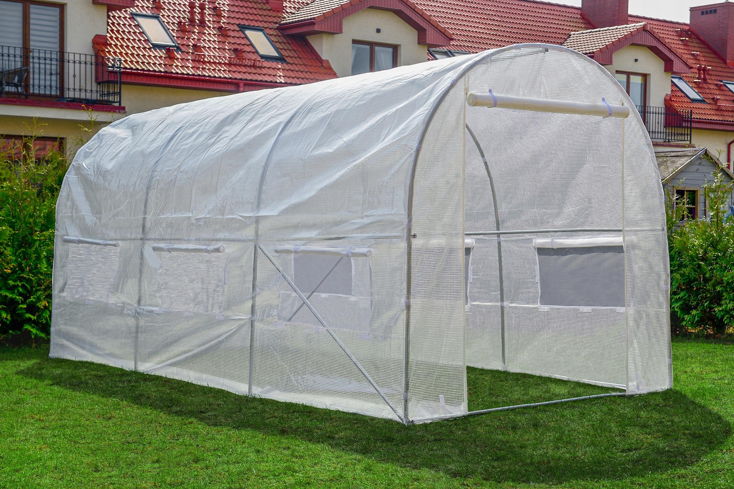 FÓLIOVÝ TUNEL 10m2 ZAHRADA GREENHOUSE 4x2,5m UV-4 Výrobca Funfit Garden