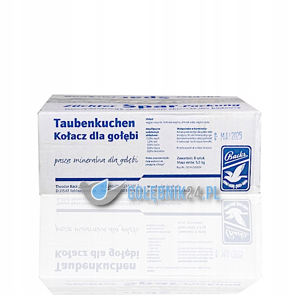 Backs – Taubenkuchen (kostki, kołacz) – 6 szt