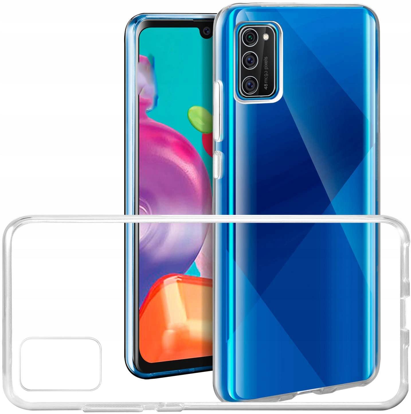 Etui Case Guma + Szkło 9h do Samsung Galaxy A41 Kolor bezbarwny