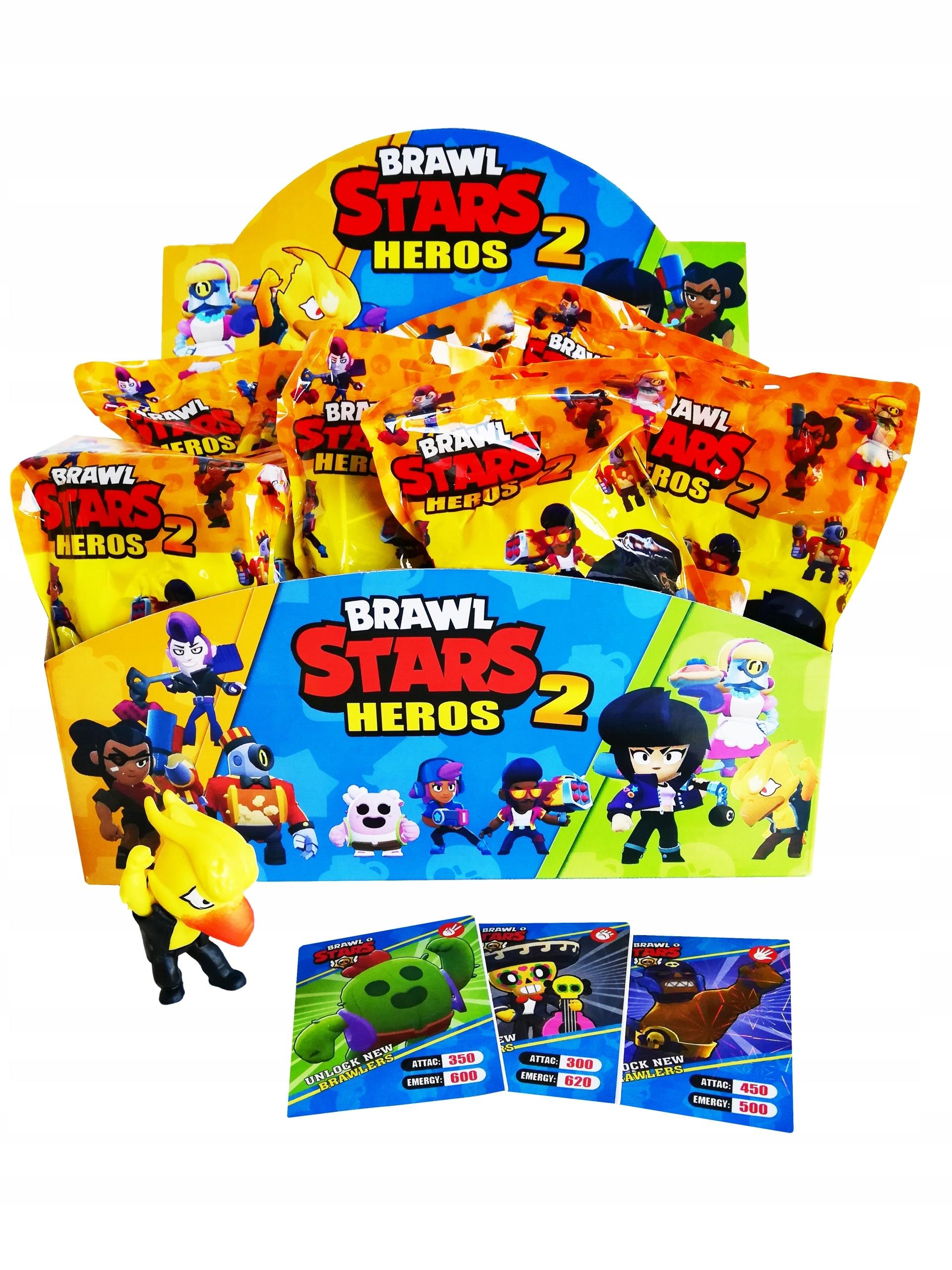 BRAWL STARS 2 SADA 10 OBRÁZKOV + KARTY