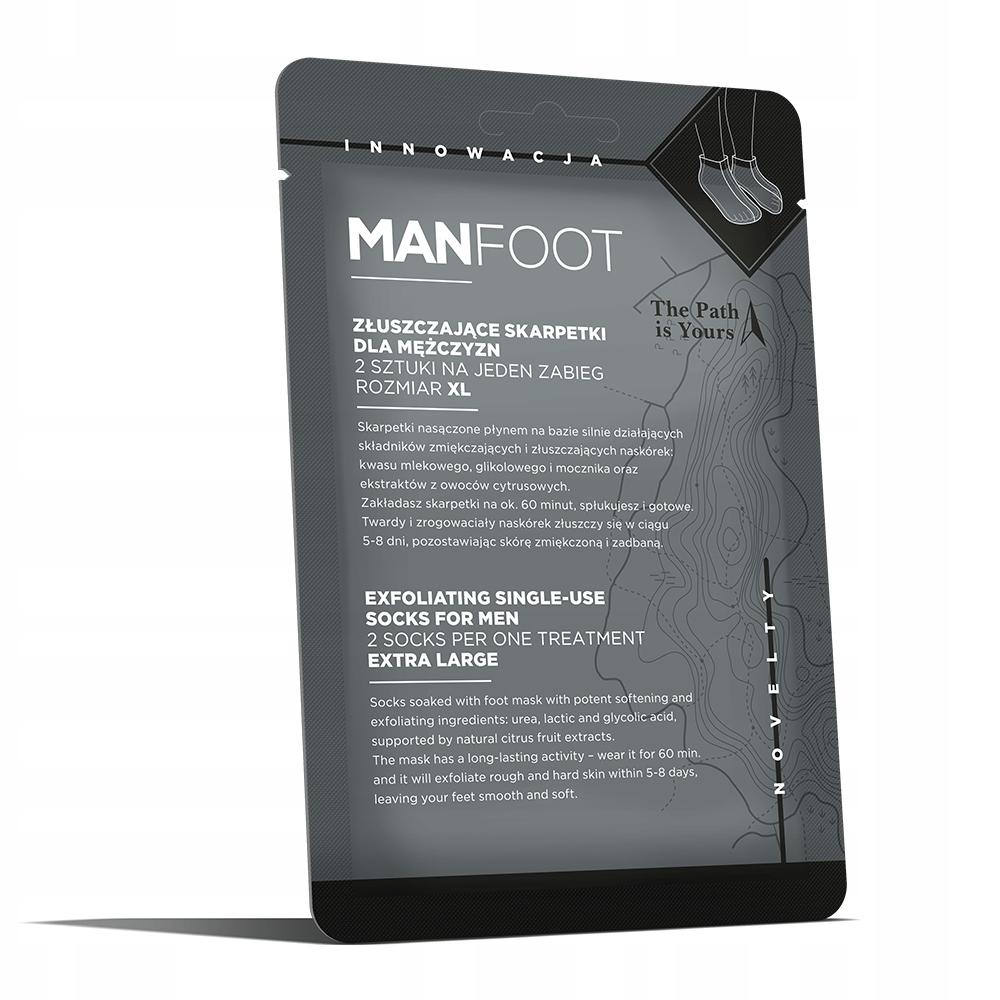 Exfoliačné ponožky pre mužov veľkosť XL