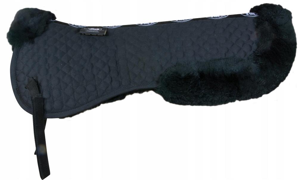 Podkładka pod siodło z futrem owczym czarna S pony