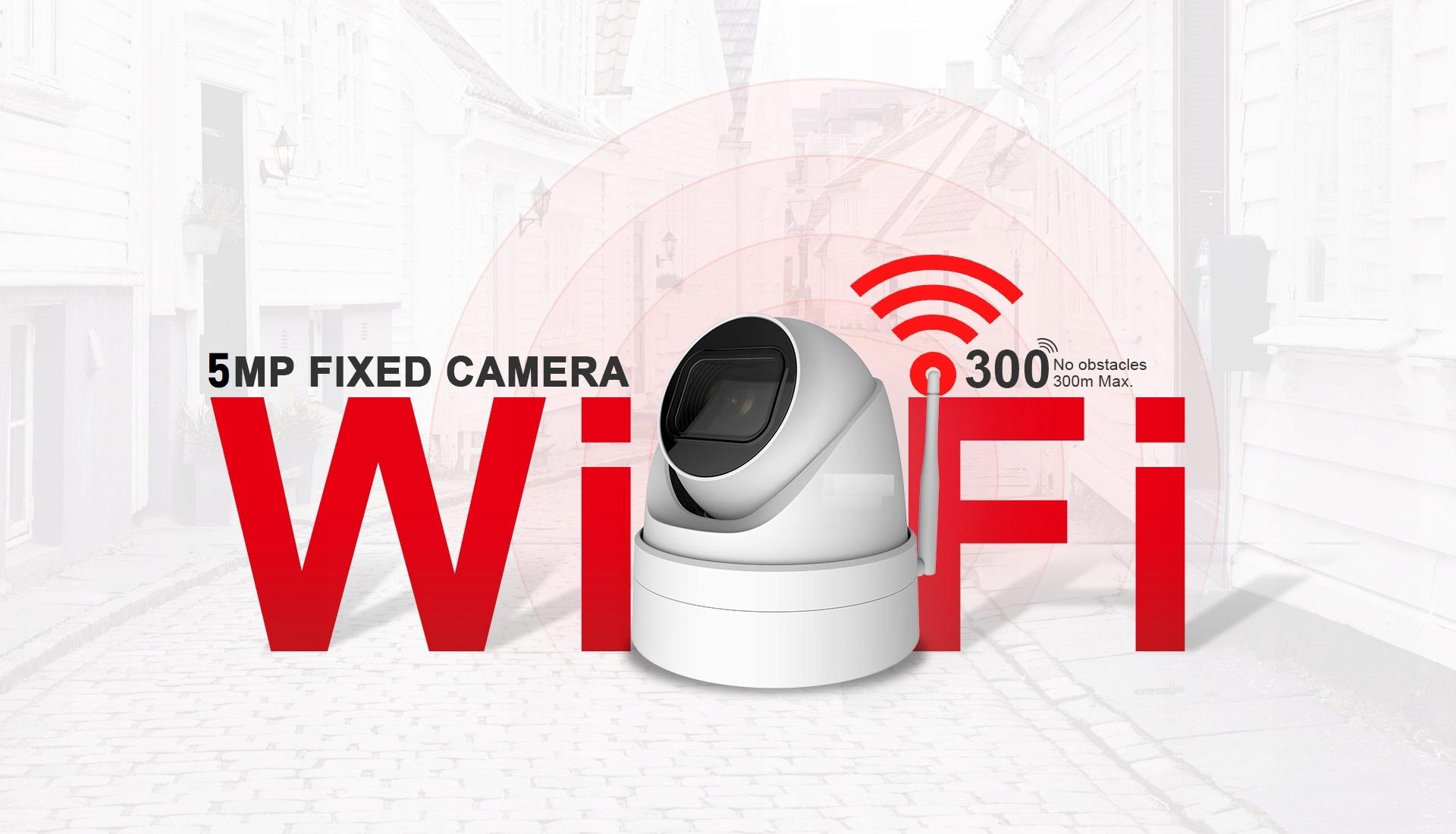 KAMERA IP WIFI 5MPX KOPUŁOWA mSD 128GB Ir40m 3,6mm