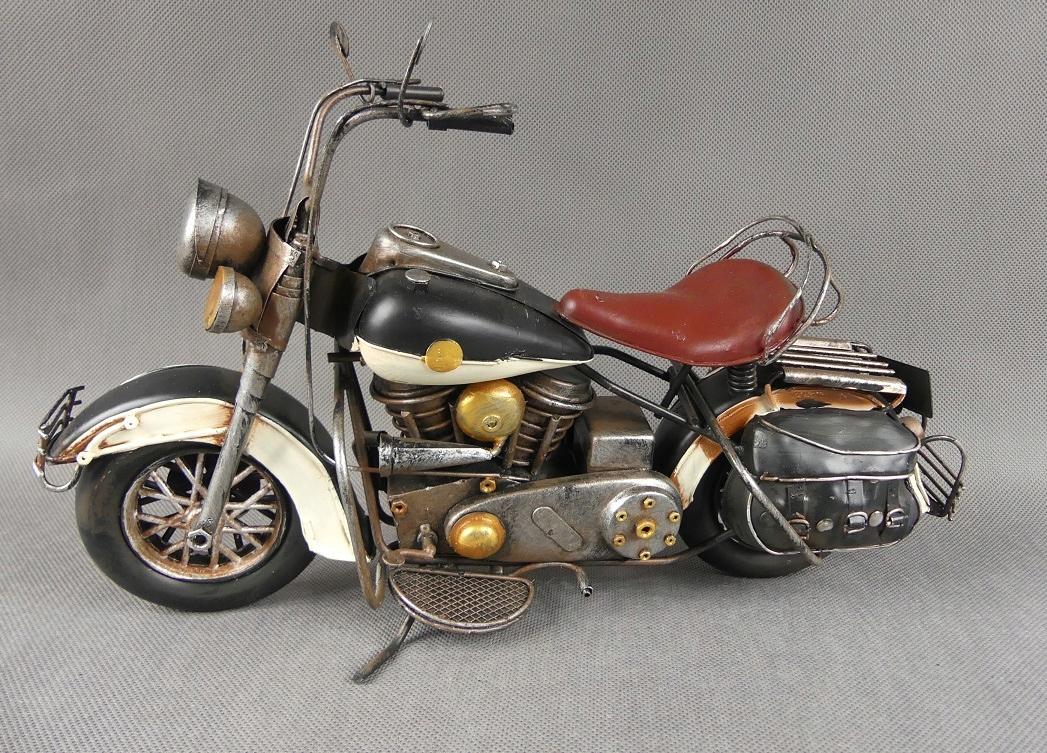 Kovový MOTOR retro vozidlo 35,5 cm motocykel