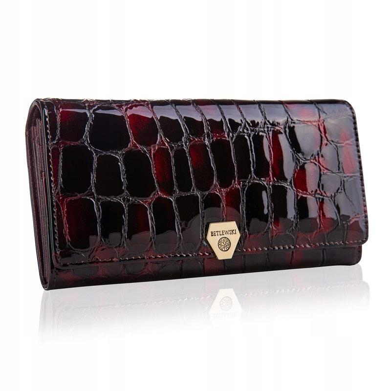 Dámska kožená peňaženka BETLEWSKI, hadia koža RFID