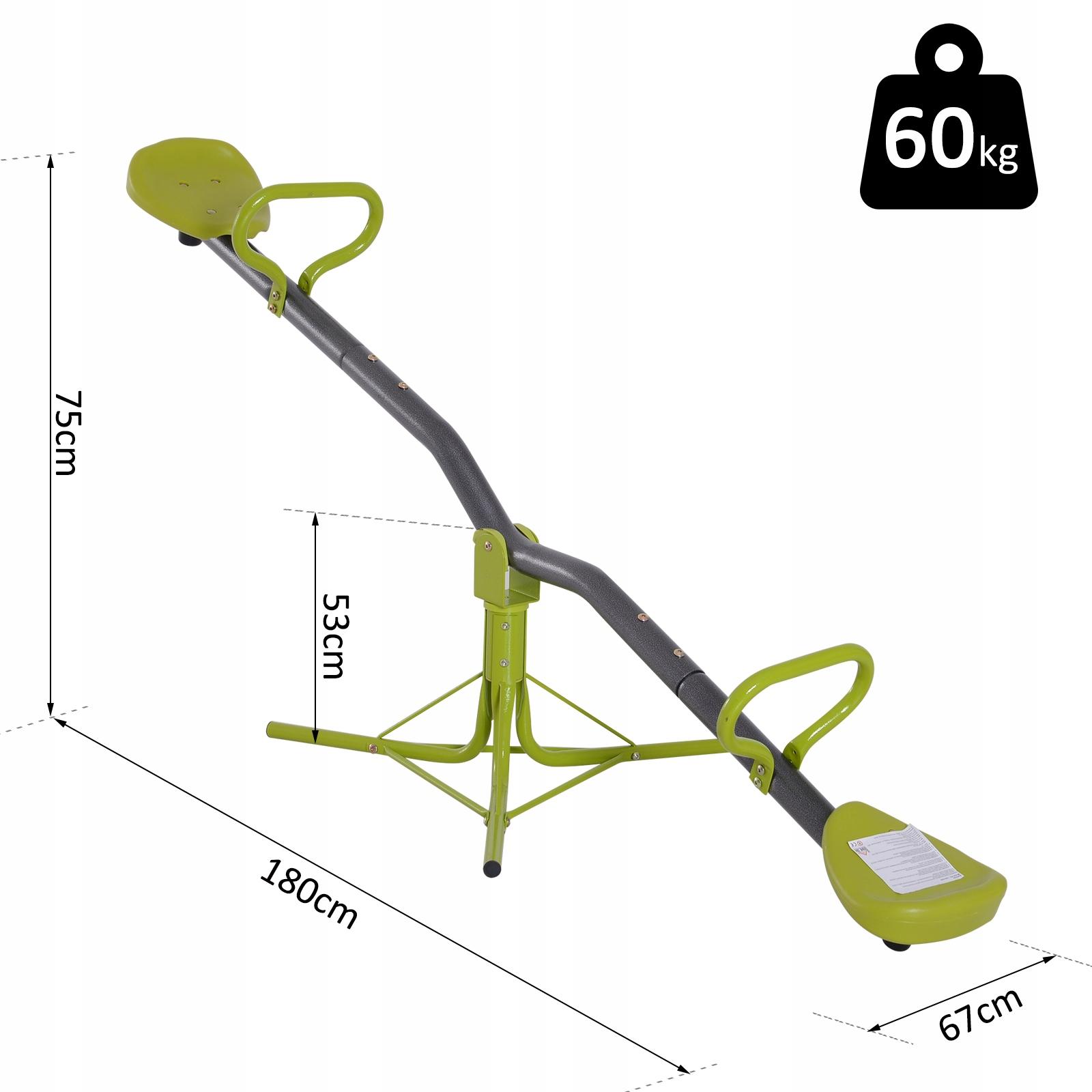 HOMCOM Garden Swing Otočná hojdačka Kód výrobcu 344-006