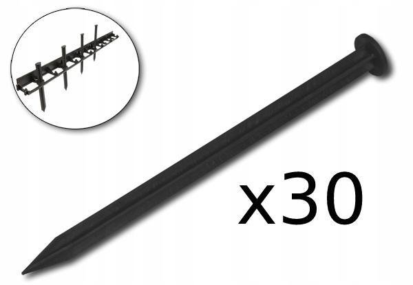 Obrzeże ogrodowe 78mm 10m + KOTWY 30szt Długość 1000 cm