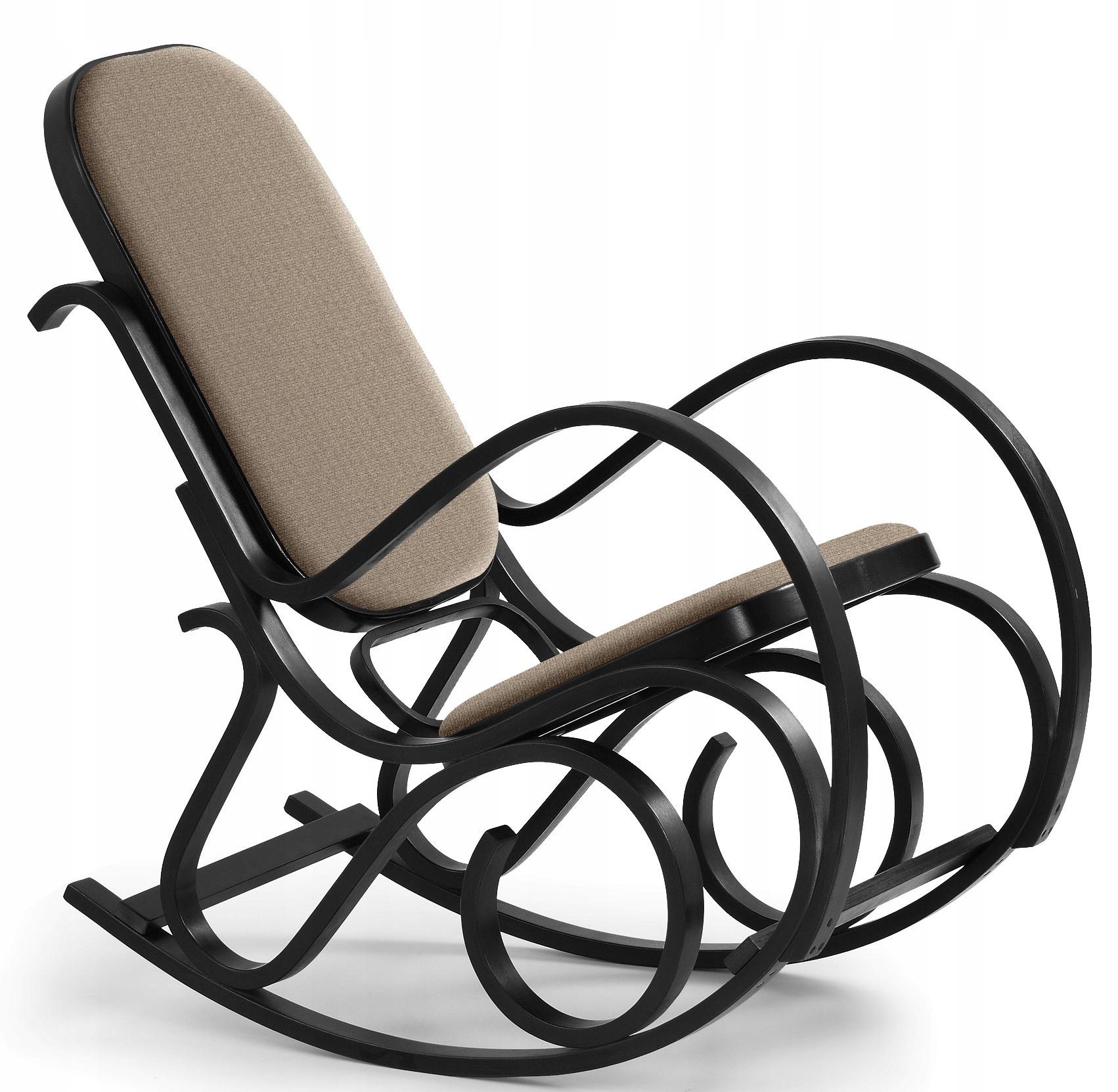 Кресло-качалка MARS Walnut Rocker Wood Fabric