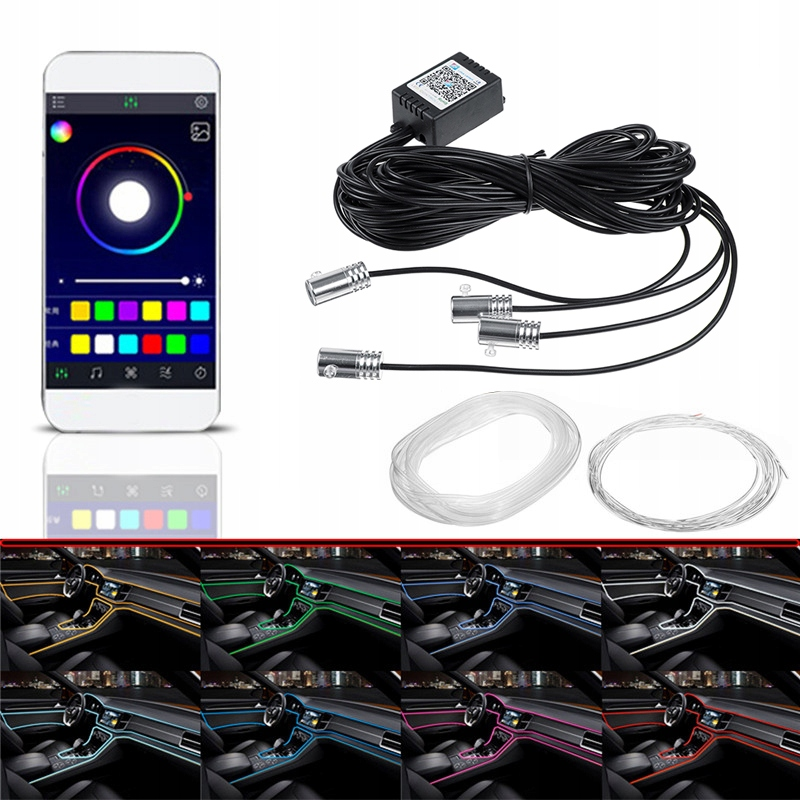 Ambient Light Fibre Optical Fibre RGB LED Applique