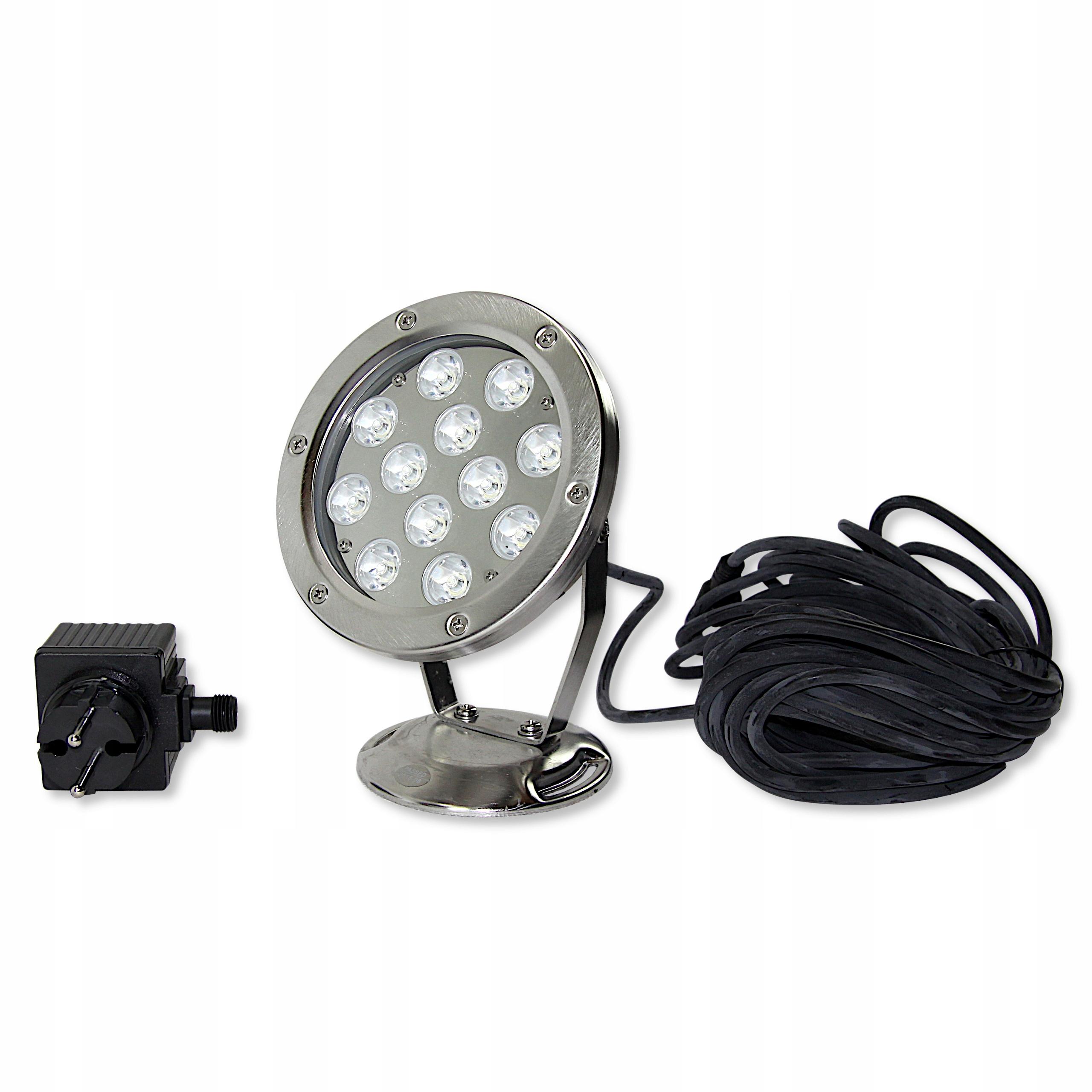 LAMPA LED - REFLEKTOR ZE STALI QL 26 12W BIAŁY