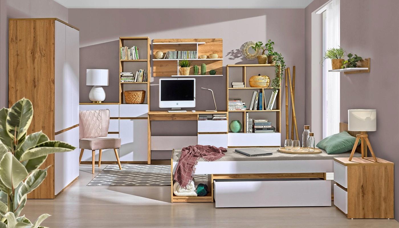 ARCA комплект молодежной мебели # 3 дуб вотан / белый