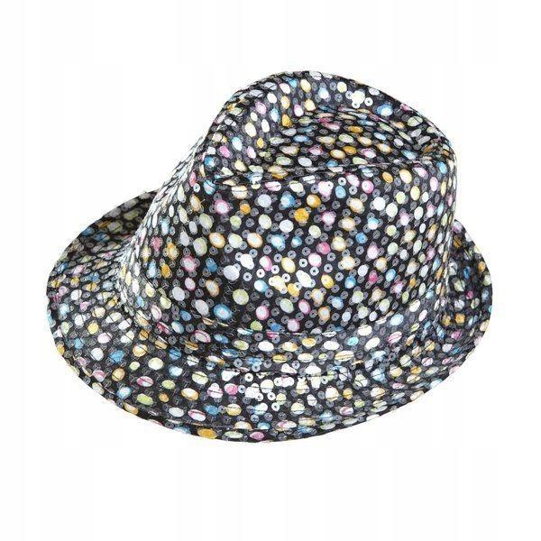 Polka flitrový klobúk, karneval, retro