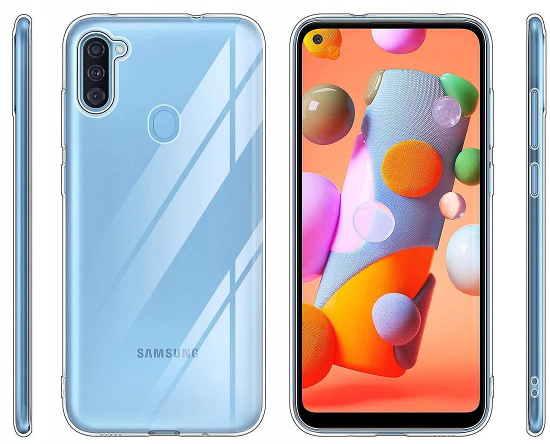 Etui do Samsung Galaxy M11 Clear Case Guma +Szkło Kod producenta C104