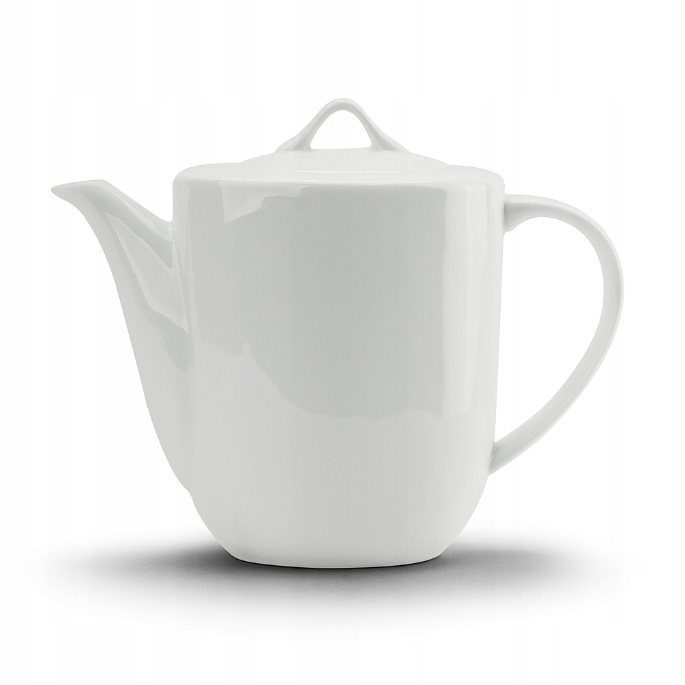 DZBANEK DO KAWY HERBATY kafejnik porelanowy biały