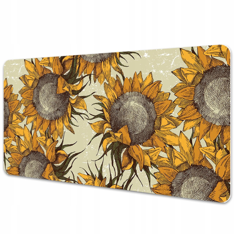 Veľká podložka na stôl Retro Sunflowers 90x45cm