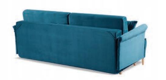 LUIS Sofa stilvolles Sofa f. Schlafbehälterfarben Möbelhöhe 88 cm