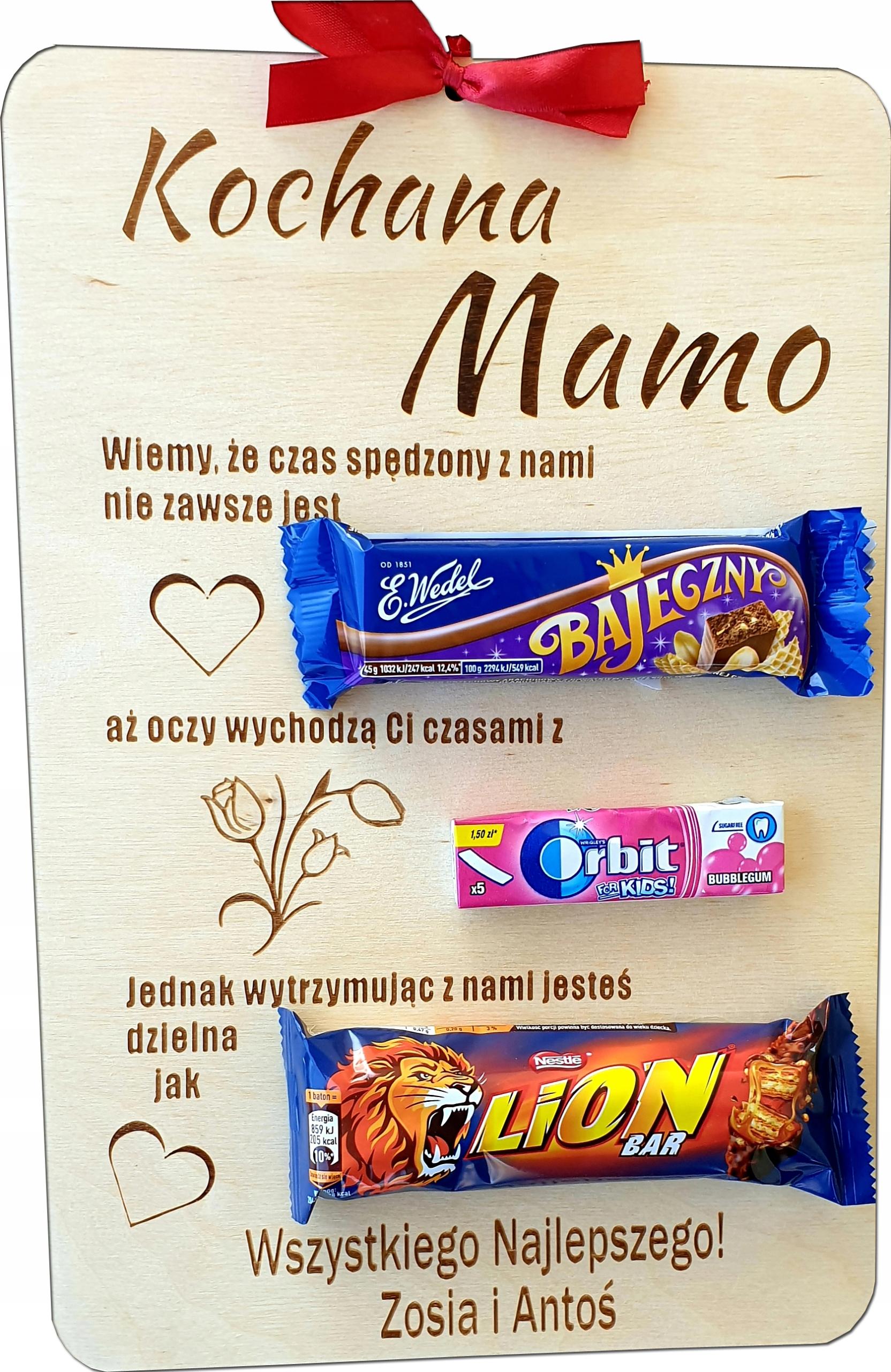 Dzień Mamy Matki prezent DYPLOM Tabliczka