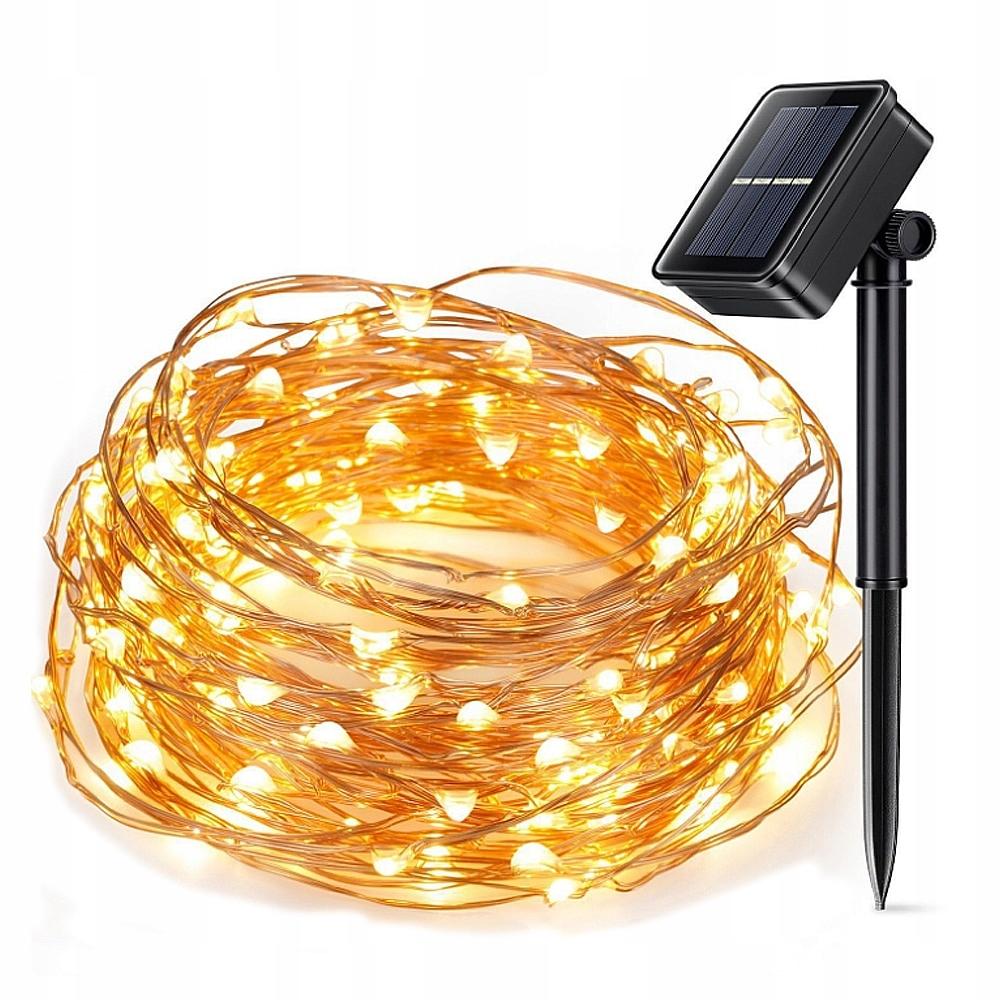 Солнечные микро светодиодные 100 ламп 10 метров