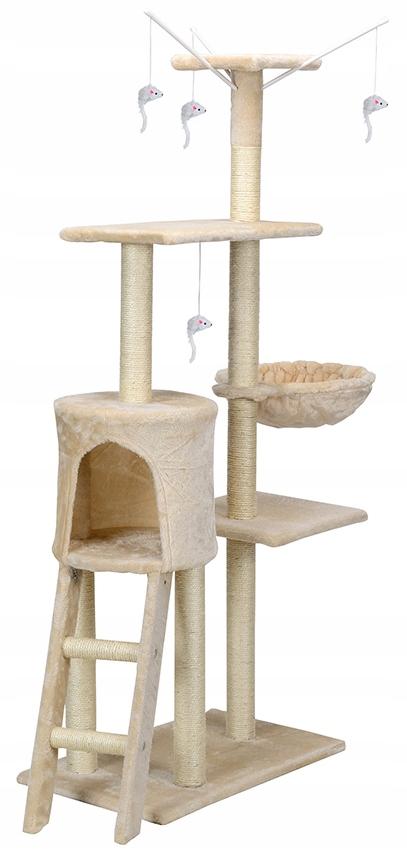 Škrabka na mačky, veža, posteľ, domček s hračkami