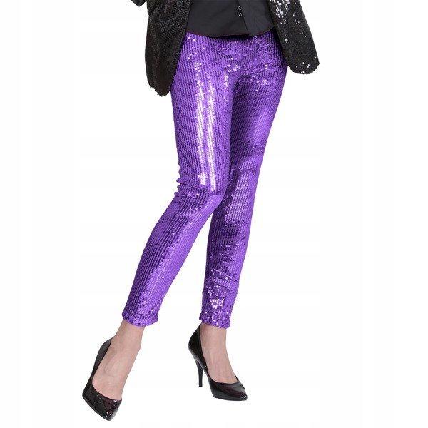 Legíny flitrované fialové, karneval, retro M